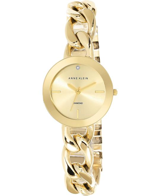 Anne Klein Women's Diamond Gold-Tone Watch 32mm