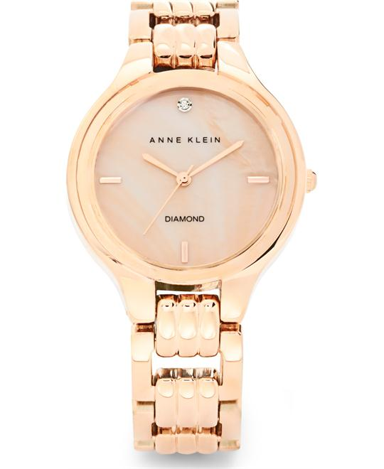 Anne Klein Women's Diamond Rose Gold Watch 34mm