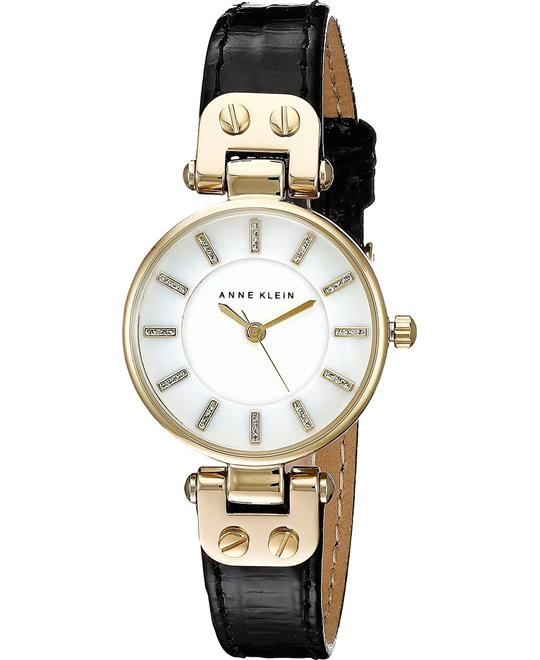 Anne Klein Women's Gold-Tone and Black Watch 26mm