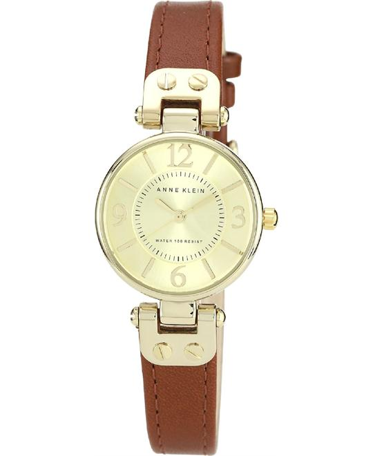 Anne Klein Women's Gold-Tone Champagne Brown Watch 26mm