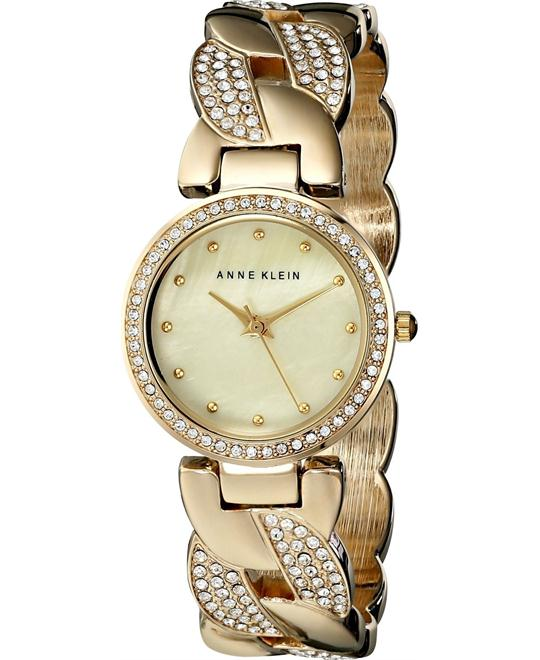 Anne Klein Women's Gold -Tone Link Watch 26mm