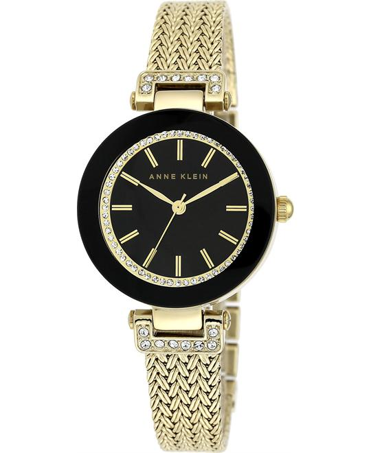 Anne Klein Women's Gold-Tone Mesh Watch 30mm