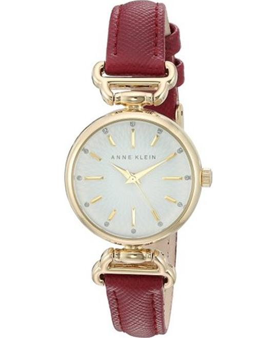Anne Klein Women's Gold-Tone Strap Watch 28mm