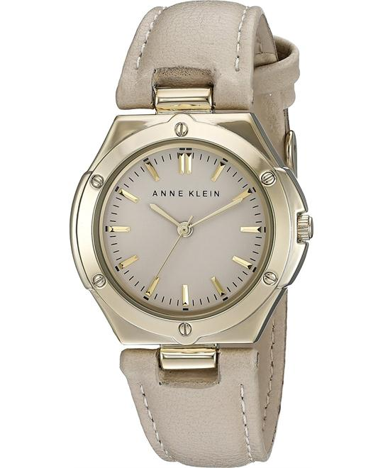 Anne Klein Women's Gold-Tone Strap Watch 32mm