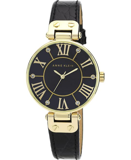 Anne Klein Women's Mother-Of-Pearl Leather Dress Watch 34m