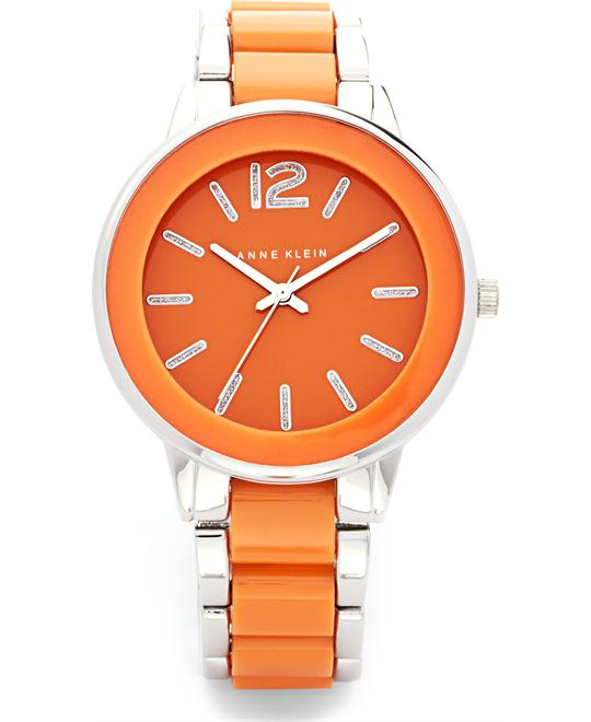 Anne Klein Women's Orange and Silver Watch, 37mm