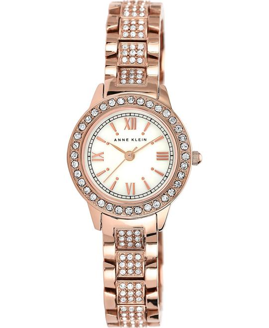 Anne Klein Pave-Set Rose Gold-Tone Watch 26mm