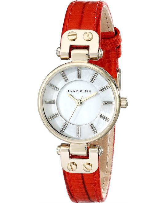 Anne Klein Women's Red Leather Watch 26mm