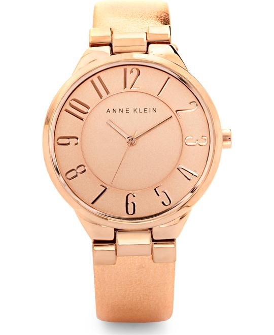 Anne Klein Women's Rose Gold Metallic Watch, 34mm