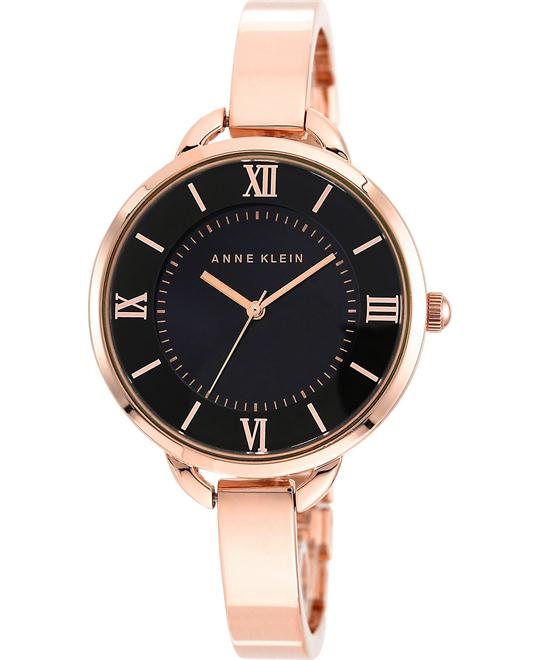 Anne Klein Women's Rose Gold-Tone Bracelet Watch 34mm