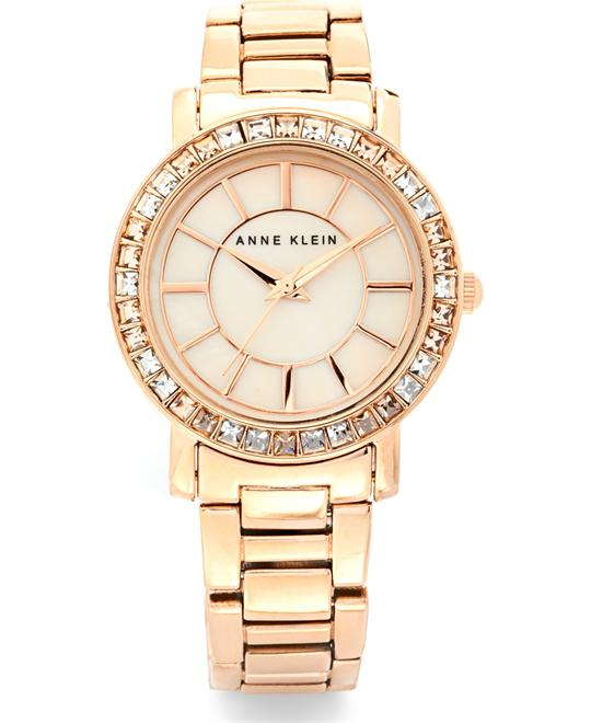 Anne Klein Women's Rose Gold-Tone Watch, 32mm