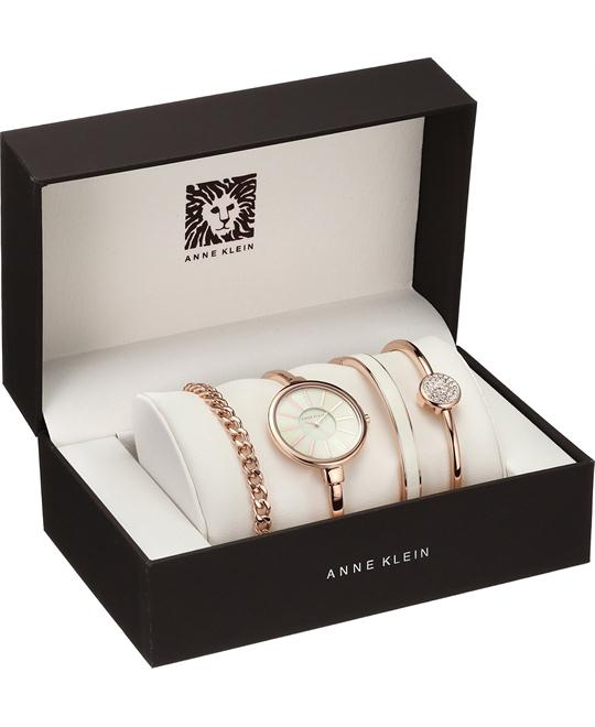 Anne Klein Women's Rose Gold-Tone Watch Set 32mm