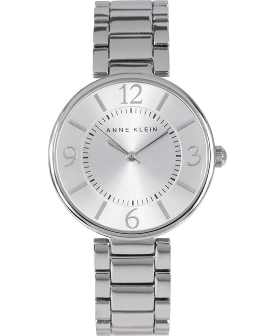 Anne Klein Women's Silver-Tone Bracelet Watch 34mm