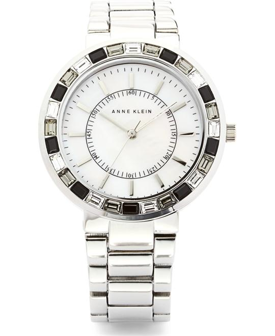 Anne Klein Women's Silver-Tone Bracelet Watch 36mm