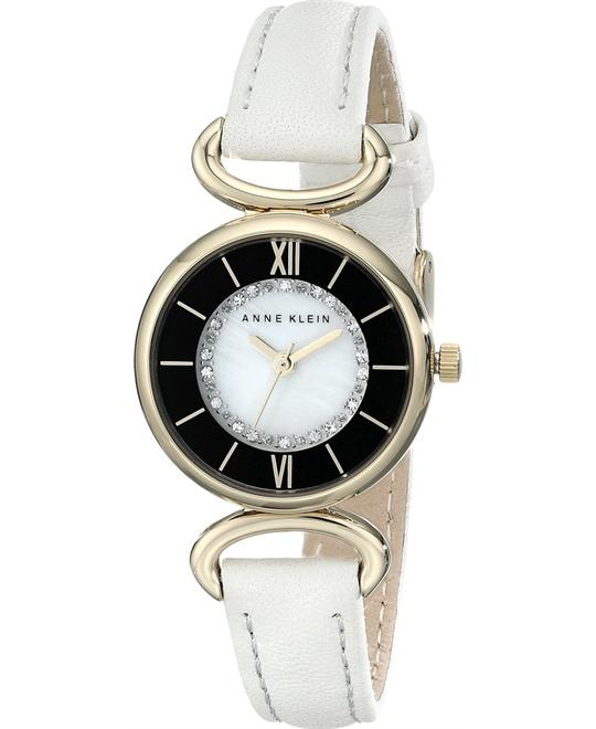 Anne Klein Women's Swarovski Crystal Ivory Watch 26mm