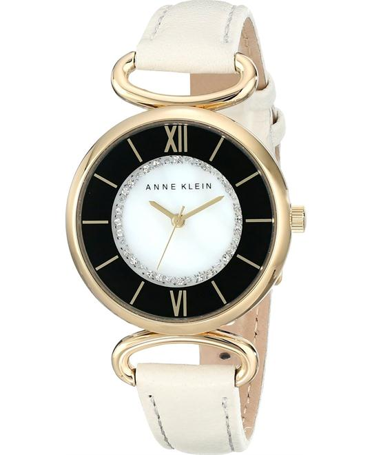ANNE KLEIN WOMEN'S SWAROVSKI CRYSTAL IVORY WATCH 32MM