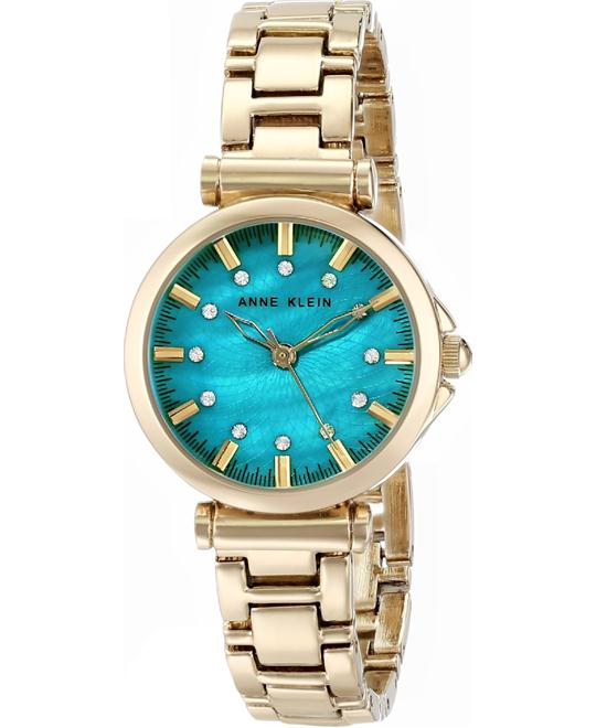 Anne Klein Women's Swarovski Teal Watch 28MM