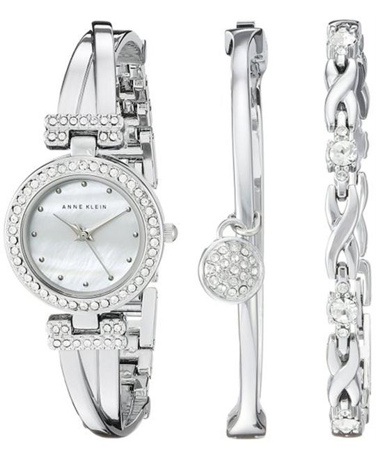 Anne Klein Women's Swarovski Watch and Bracelet Set 24mm