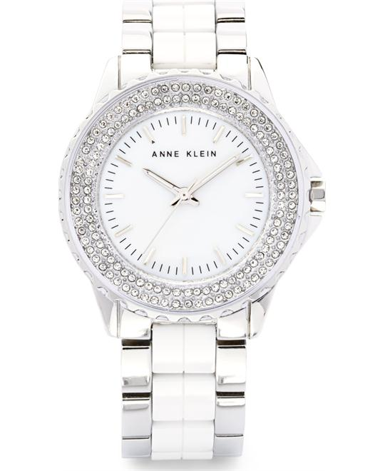 Anne Klein Women's White Ceramic and Silver 36mm