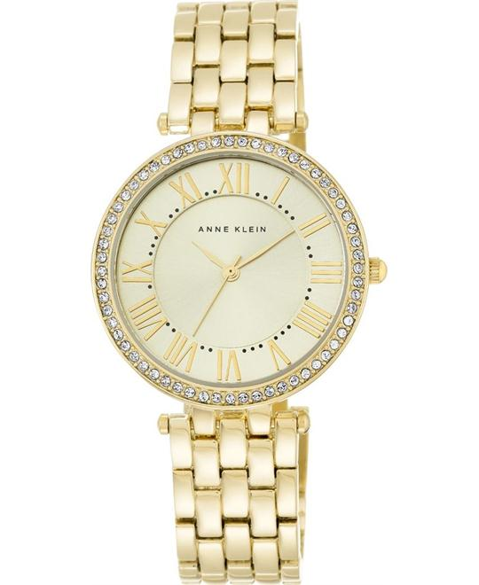 Anne Klein Women'sSwarovski Crystal  Watch 34mm