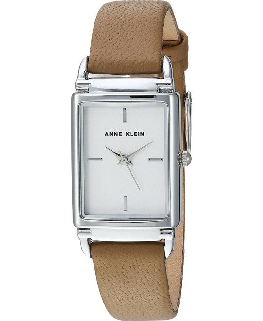 Anne Klein Dark Brown Leather Watch 21x39mm