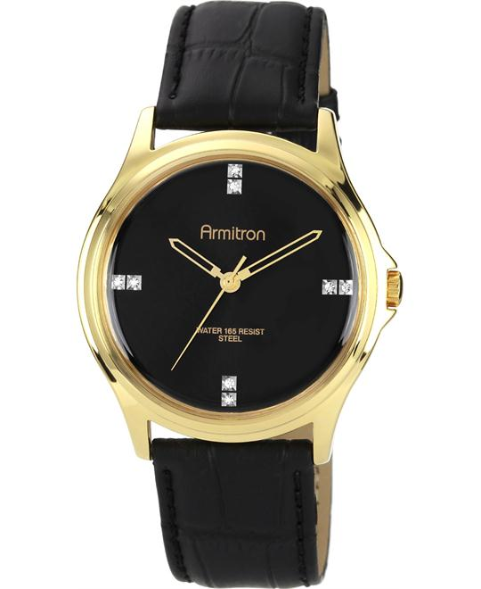 Armitron Crystal Swarovski Gold-Tone Men's Watch 42mm