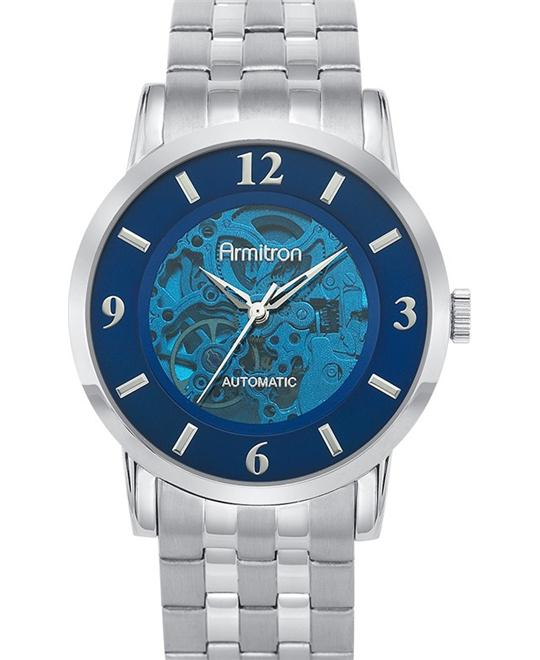 Armitron Men's Automatic Blue Skeleton Watch 42mm