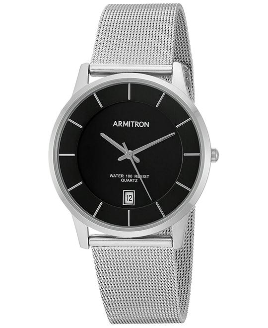 Armitron Men's Dial Silver-Tone Mesh Bracelet Watch 39mm