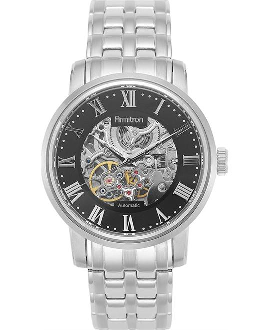 Armitron Men's Silver- Automatic Watch, 41mm