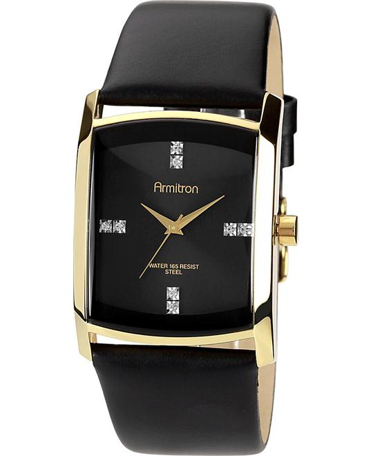 Armitron Men's Swarovski Crystal Gold-Tone Watch 33mm