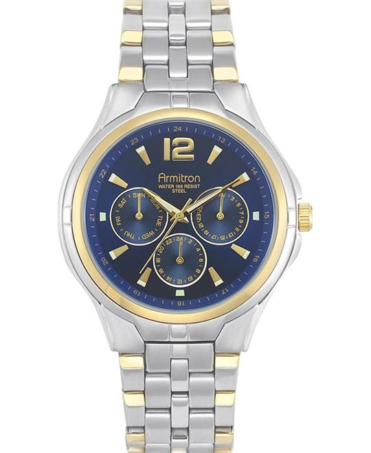 Armitron Men's Two-Tone Blue Watch, 40mm