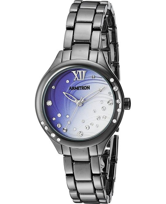 Armitron Women's  Swarovski Gunmetal Watch 30mm