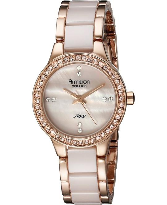 Armitron Women's Swarovski ink Ceramic Watch 28mm