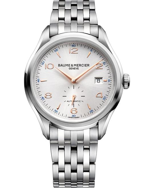 Baume & Mercier Clifton Silver Mens Watch, 41mm
