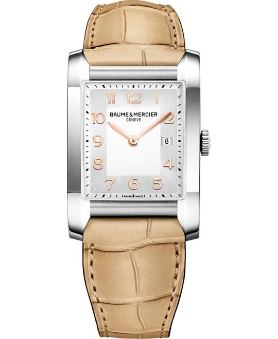 Baume & Mercier Hampton Brown Watch, 40.0 mm x 27.1 mm