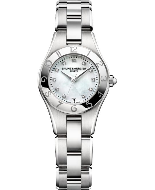 Baume and Mercier Linea Diamond Ladies Watch 27mm