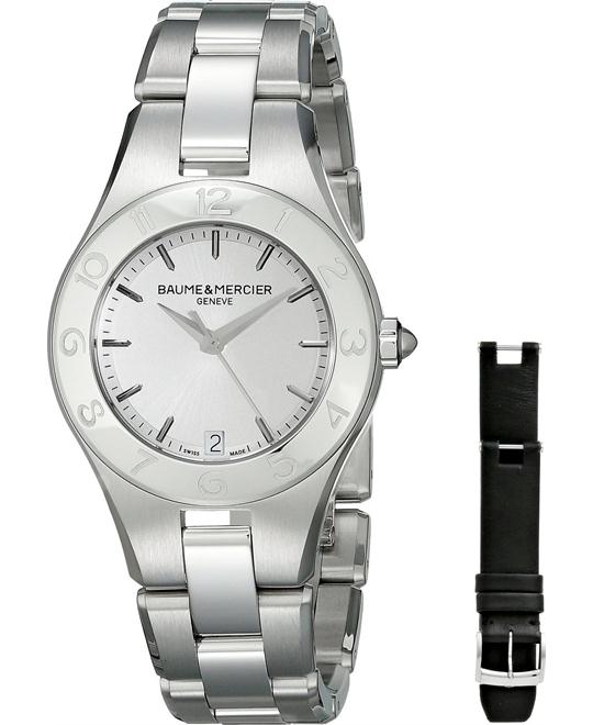 Baume and Mercier Linea Silver Ladies Watch 32mm