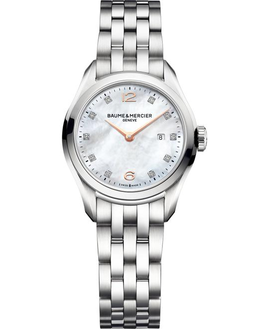 Baume and Mercier Clifton Diamond Mens Watch 30mm