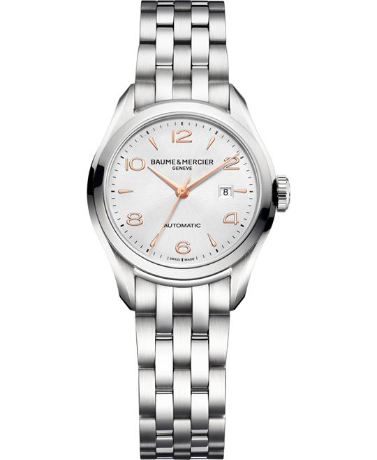 Baume and Mercier Clifton Silver Watch, 30mm