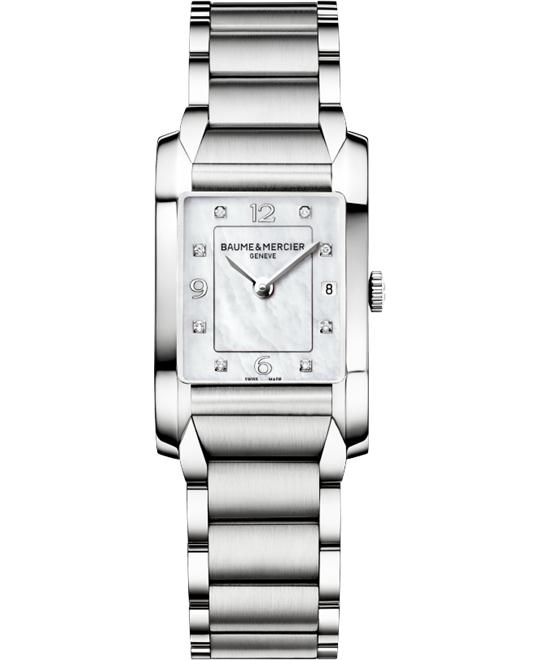 Baume and Mercier Hampton Diamond Watch, 34.5 mm x 22.0 mm