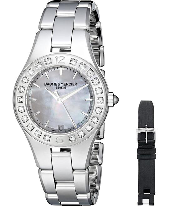 Baume and Mercier Linea Diamond Ladies Watch32mm