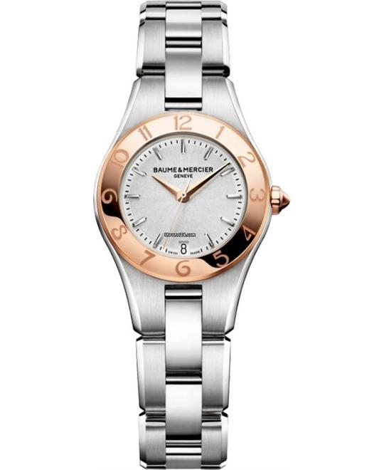 Baume and Mercier Linea Silver Ladies Watch 27mm