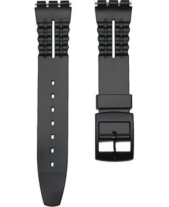 Black Replacement Watch Band for Standard Gents Swatch Watch 17mm