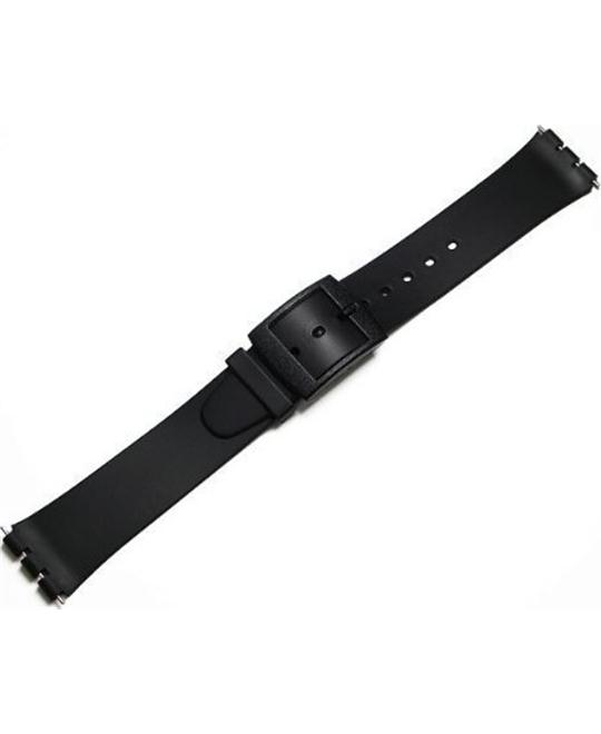 Black Resin Replacement Watch Band for Swatch SKIN Watch 16mm