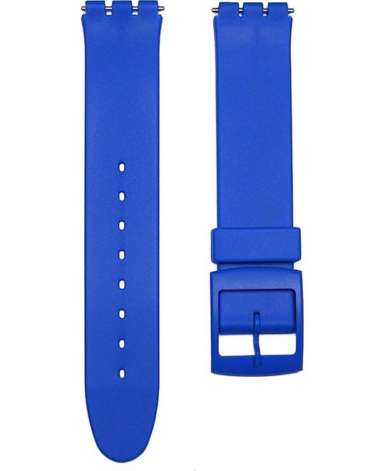 BLUE Replacement Watch Band for Standard Gents Swatch Watch 17mm