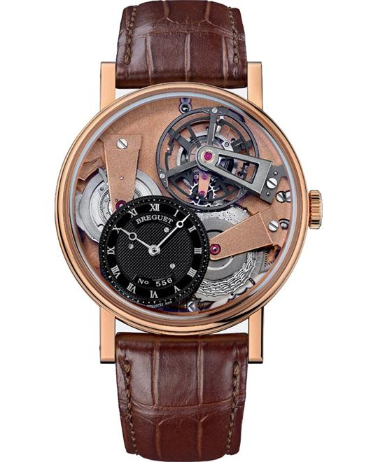 BREGUET Tradition 7047BR/R9/9ZU Skeleton Watch 41mm