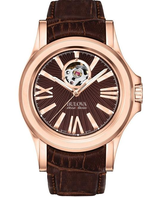 Bulova Accu Swiss Kirkwood Rose Gold Automatic Watch 40mm