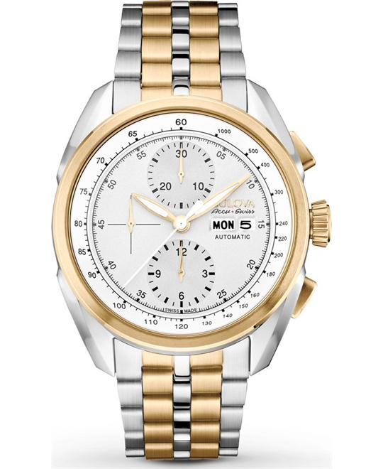 Bulova Accu Swiss Tellaro Automatic Watch 43mm
