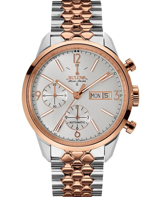 Bulova AccuSwiss Murren Automatic Chronograph Watch 41mm