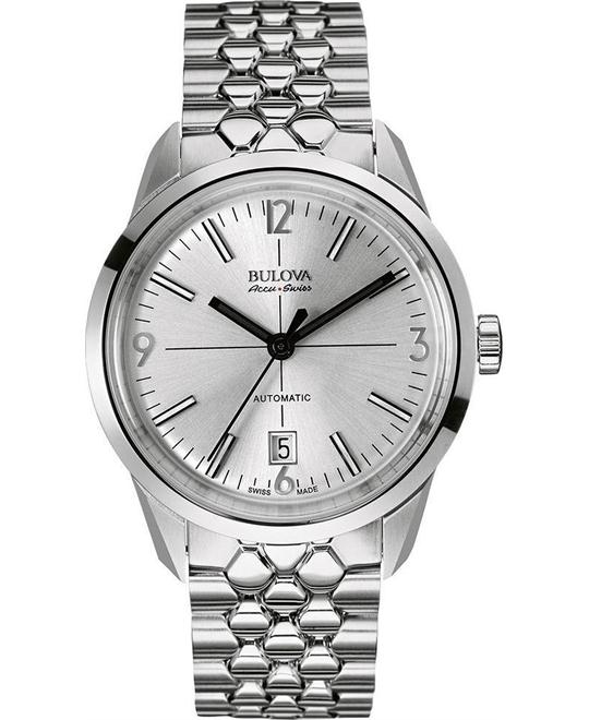 Bulova AccuSwiss Men's Murren Stainless Steel Silver Watch 40mm